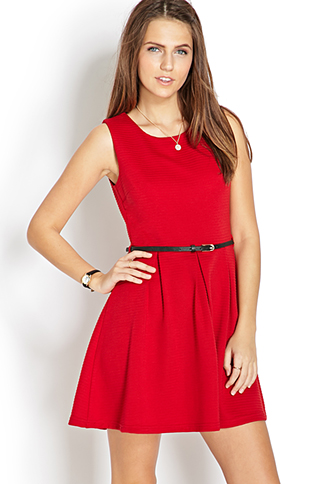 Sophisticated Fit & Flare Dress | FOREVER21 - 2000065101