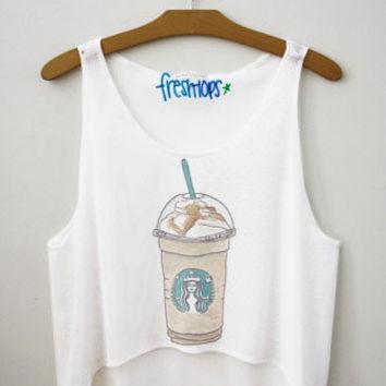 Starbucks Carmel frappuccino Fresh-Tops Crop Top | fresh-tops.com on Wanelo