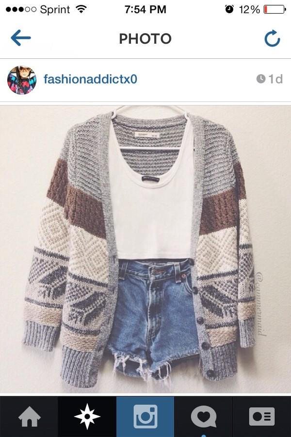 sweater oversized cardigan tank top