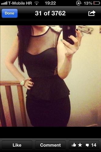 dress black dress rivet