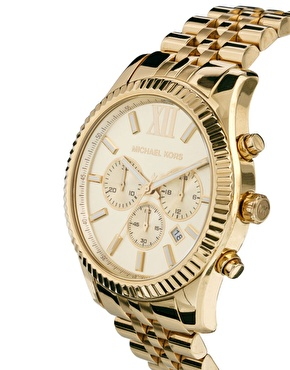Michael Kors   Michael Kors Watch MK8281 Gold Chronograph at ASOS