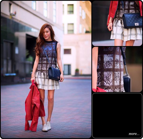 tsangtastic dress jacket shoes jewels bag
