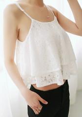 Double Layers Crop Top  - Juicy Wardrobe