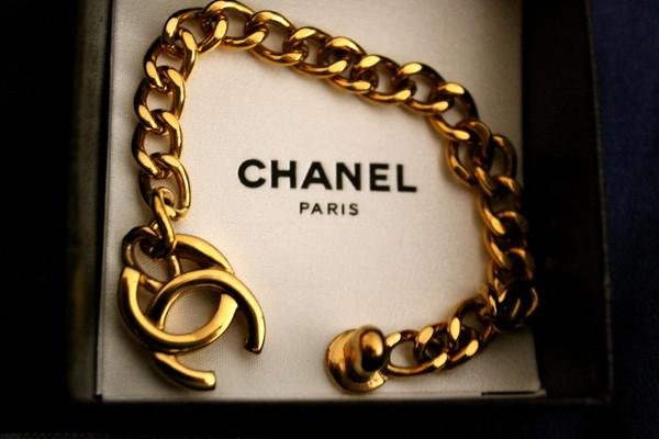 jewels bracelets chanel gold pretty cute