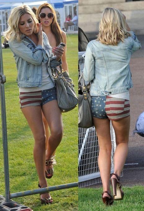 Topshop Moto American USA Flag Denim Shorts Hotpants UK 6-8 W26 | eBay