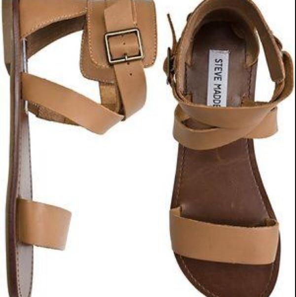 shoes steve madden nude sandals flat sandals
