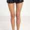 Sequin swirl holiday shorts