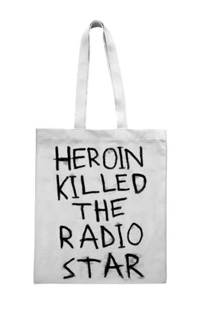 SOBER IS SEXY — Heroin Killed The Radio Star (Tote Bag)