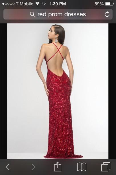 dress red dress long dress backless prom dress