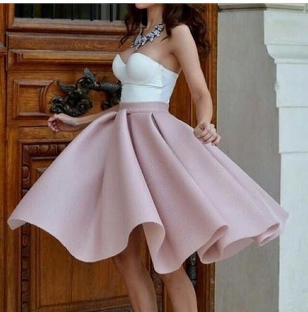 skirt nude pink
