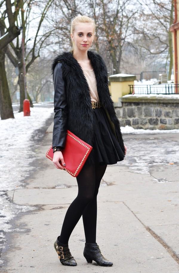 vogue haus sweater jacket skirt shoes bag jewels belt
