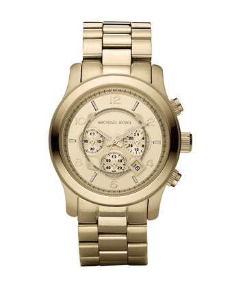 Michael Kors Golden Oversized Runway Watch - Michael Kors