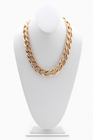 LoveMelrose.com From Harry & Molly   Rihanna Chain Necklace - Gold