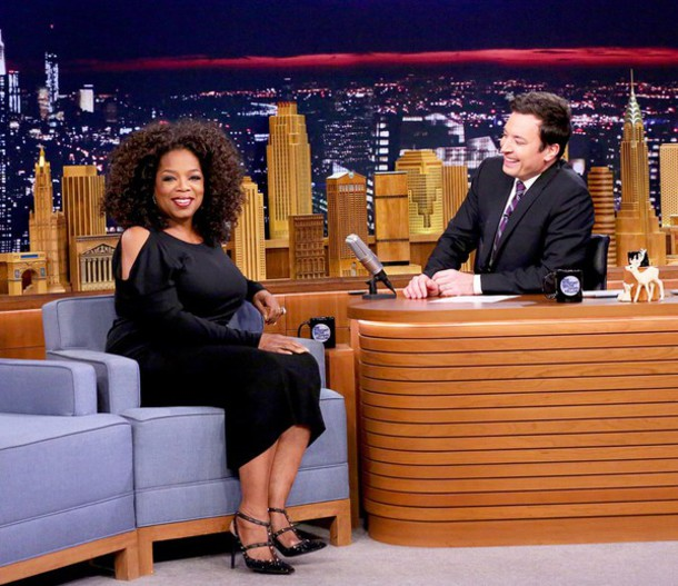 dress oprah winfrey dress on jimmy f fallon