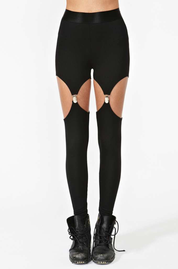 Nasty Gal Garter Leggings in  Clothes at Nasty Gal