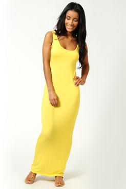 Sandy Scoop Neck Maxi Dress at boohoo.com