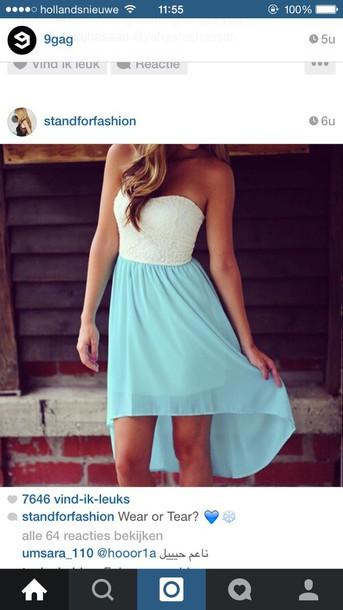 dress blue dress summer dress summer white blue skirt