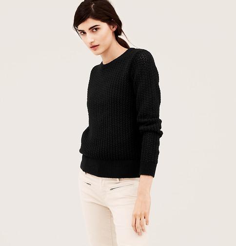 Textured Open Stitch Sweater | Loft