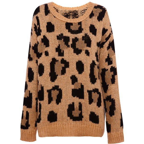 Pull & Bear Leopard Sweater - Pull&Bear - Polyvore