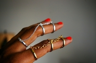 jewels ring double white fashionista double ring gold girl girly