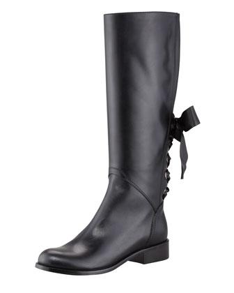 Saint Laurent Master Lace-Up Combat Boot, Black  - Bergdorf Goodman