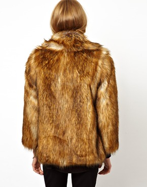 ASOS | ASOS – Vintage-Mantel aus Kunstpelz bei ASOS