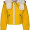 Cropped fleece jacket