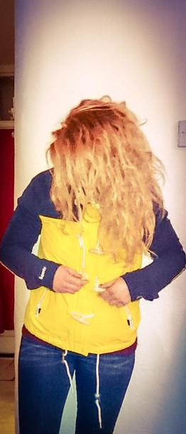 coat yellow coat