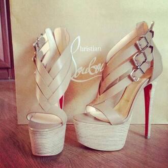 shoes high heels beige high heels cute high heels louboutin