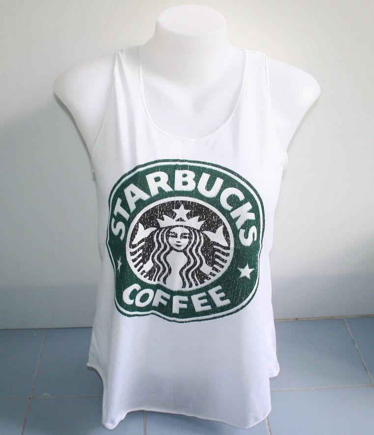 Sexy Tank Top Singlet Vase s Free Shipping Starbucks Coffee Shirt Women   eBay