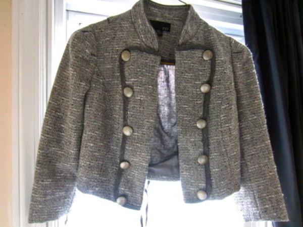 jacket tweed gray military jacket tweed jacket