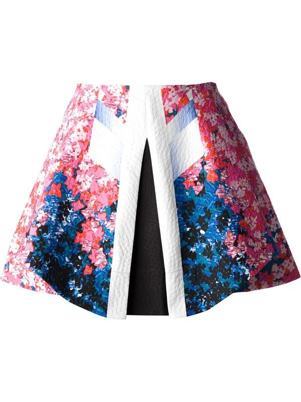 skirt peter pilotto graphic print skirt mini skirt
