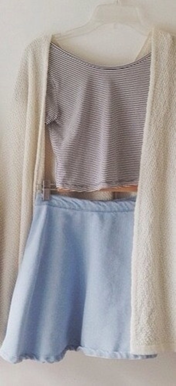 skirt blue high waisted short