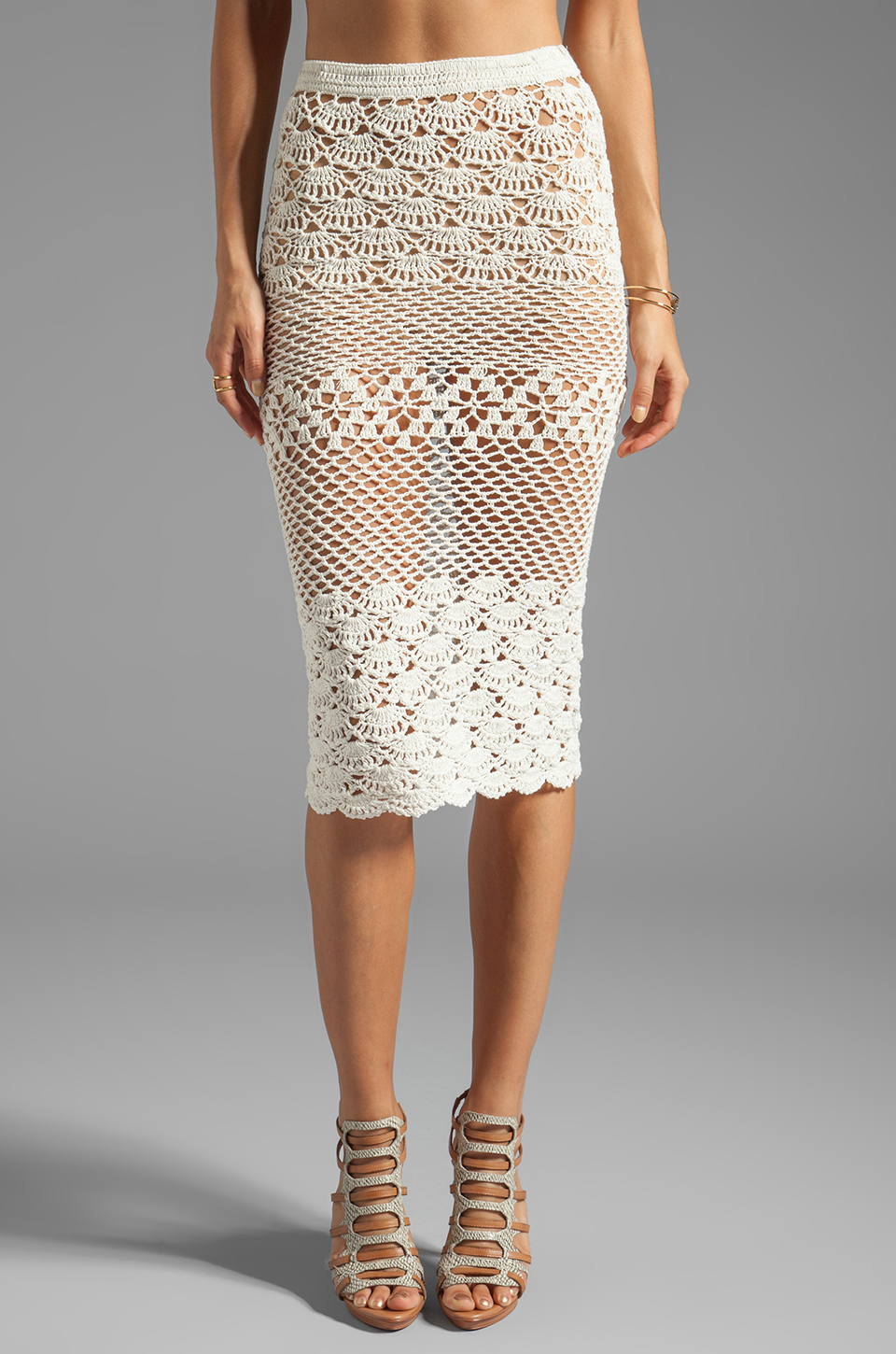 Spell & The Gypsy Collective Coconut Crochet Skirt in Off White | REVOLVE