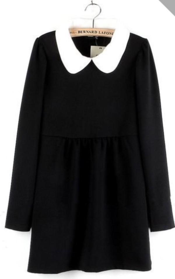 dress black collar