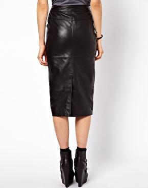 ASOS   ASOS Biker Skirt in Leather at ASOS
