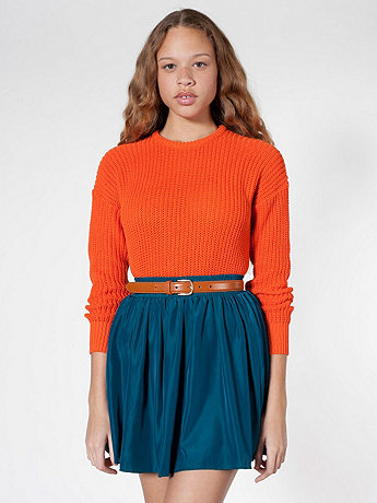Silky Shirred Waist Skirt | American Apparel