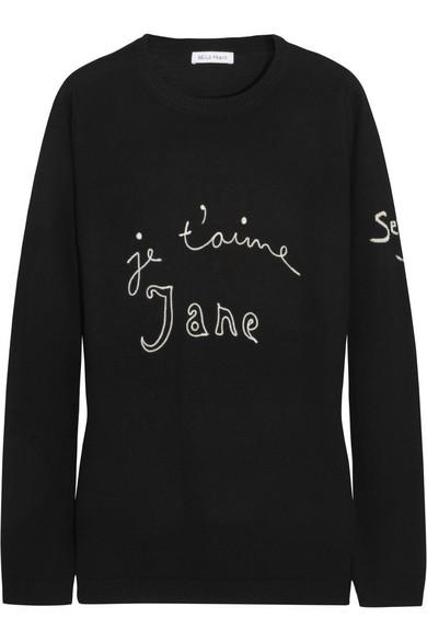 Bella Freud|Je T'Aime Jane wool sweater|NET-A-PORTER.COM