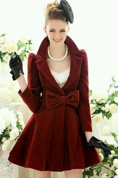 coat gloves jewels dress coat