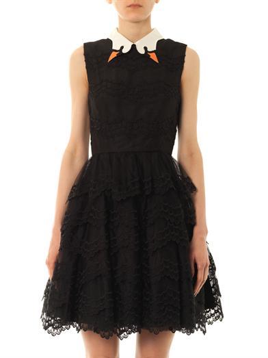 Swan collar scallop-lace dress   REDValentino   MATCHESFASHION...
