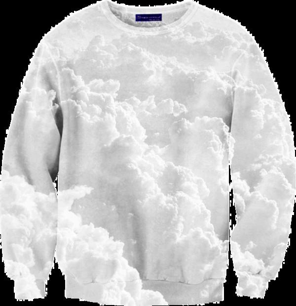 sweater clouds white clouds jumper print sky