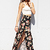 Flower Patch Slit Maxi Skirt | FOREVER21 - 2000065074