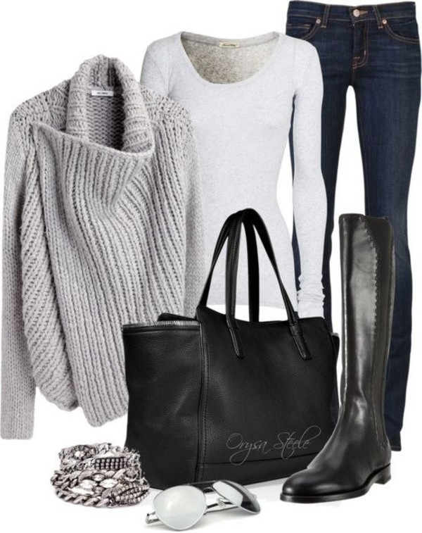 sweater bag shoes