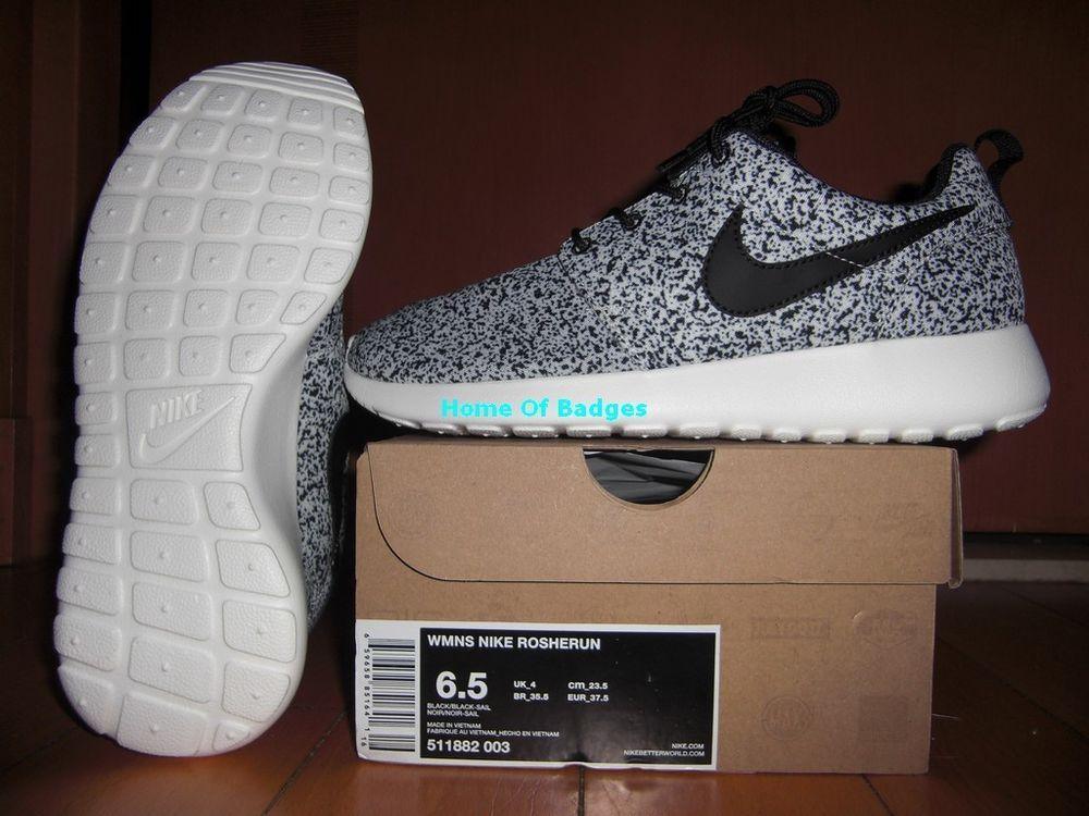 Nike 2013 Su Women Roshe Run Rosherun NSW Sneaker Shoes 511882 003 Black Sail | eBay