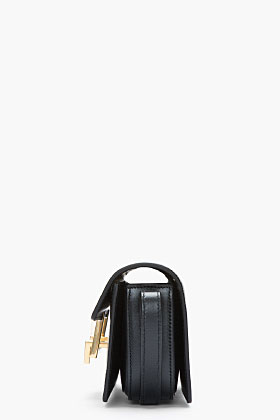Saint Laurent Small Black Leather Lulu Shoulder Bag for women | SSENSE