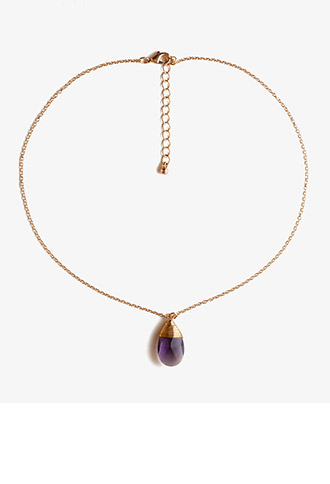 Faux Stone Teardrop Necklace   FOREVER21 - 1030186295