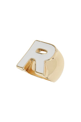 R Initial Ring - Rings - Jewellery - Bags & Accessories- Topshop