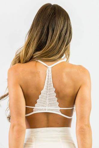 top bra white lingerie sexy bralette crop tops free vibrationz