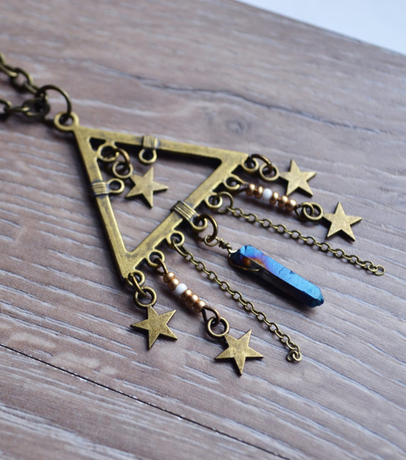 BOXING DAY SALE Triangle Necklace Star Bohemian  by LOVEnLAVISH