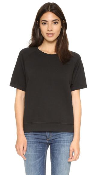 sweatshirt short black sweater